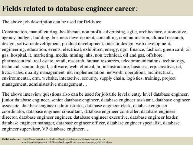 13 database engineers database engineers. database engineer resume ...