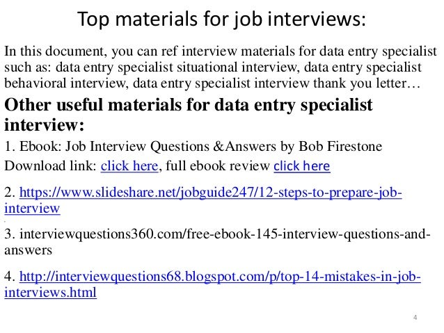 Top 36 data entry specialist interview questions and answers data entry specialist interview 4 altavistaventures Images