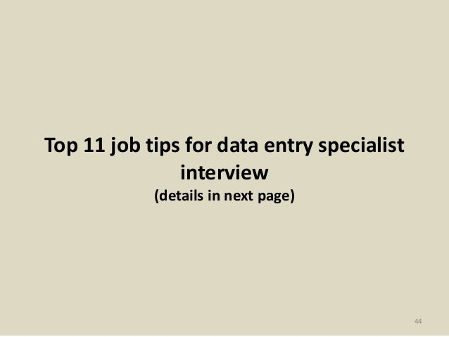 44. Top 11 Job Tips For Data Entry ...