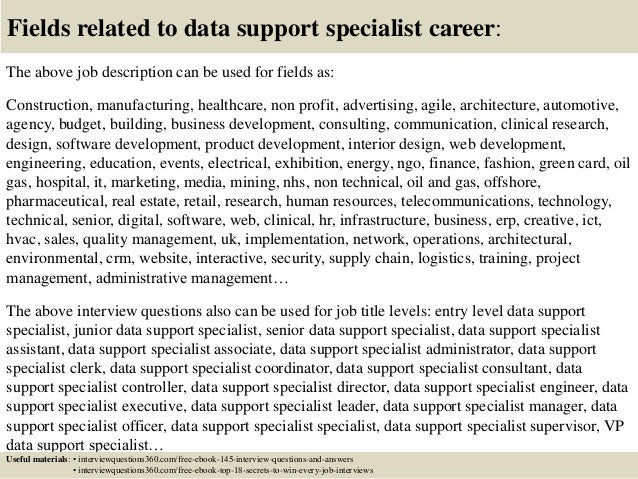 Top 10 data support specialist interview questions and answers