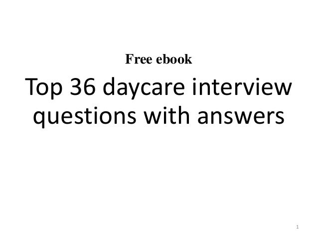 daycare teacher interview questions