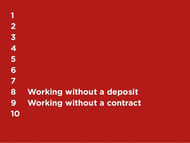 1612345678 Working without a deposit9 Working without a contract10