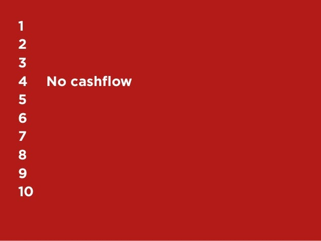 45My Top 10 Design Business Failures / David Sherwin1	2	3	4	 No cashflow5	6	7	8	9	10
