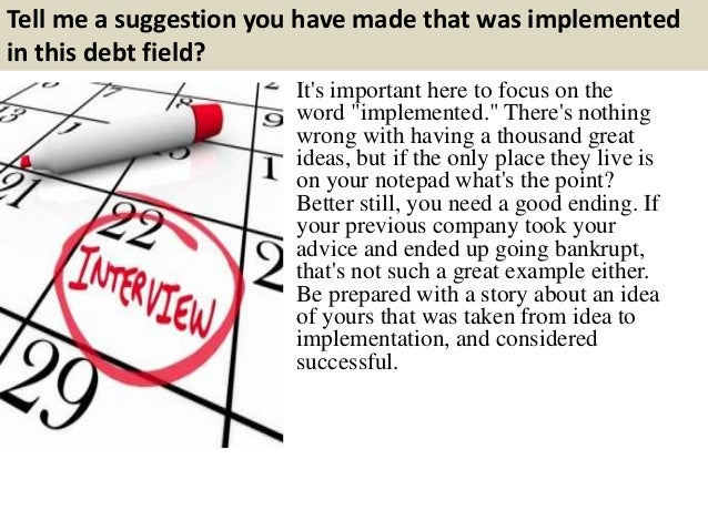 debt collection interview questions and answers