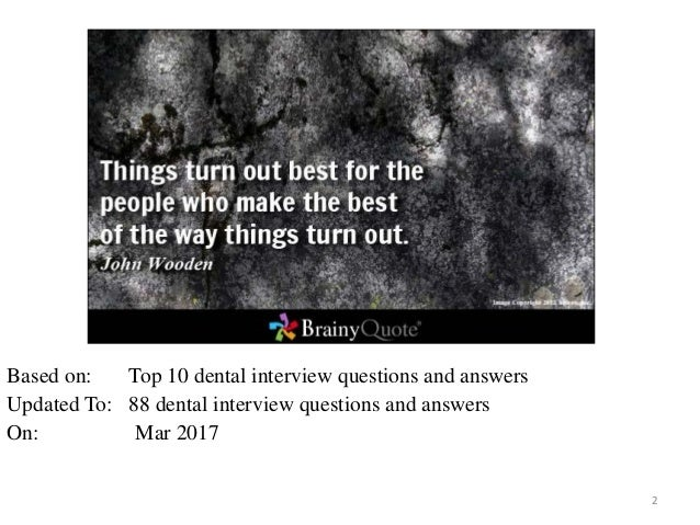 88 1 dental interview questions answers free ebook 2 - Dentist Interview Questions And Answers