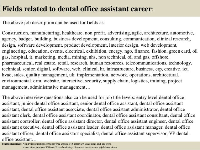 Top 10 dental office assistant interview questions and answers