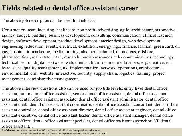 dental office job descriptions - the.zadluzony