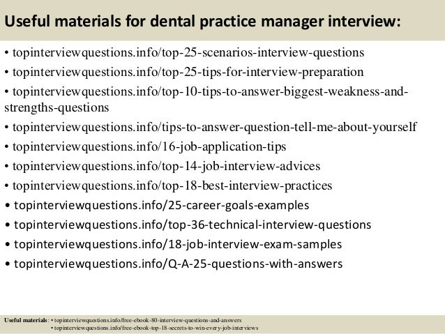 top 10 dental practice manager interview questions and answers - Practice Director Job Description