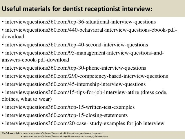 13 Useful Materials For Dentist Receptionist Interview