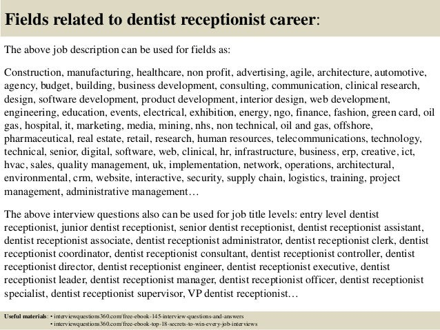 18 Fields Related To Dentist Receptionist