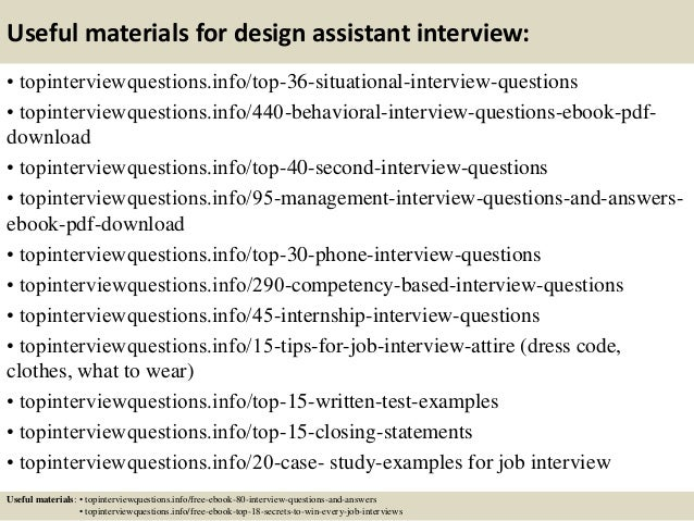 12 Useful Materials For Design Assistant Interview