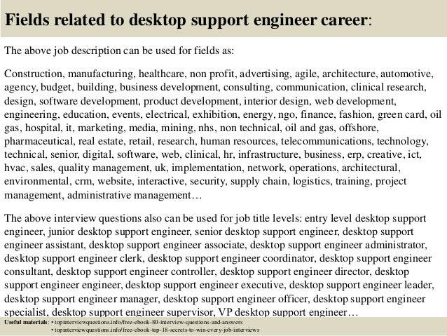 desktop support engineer offer letter. resume desktop support ...