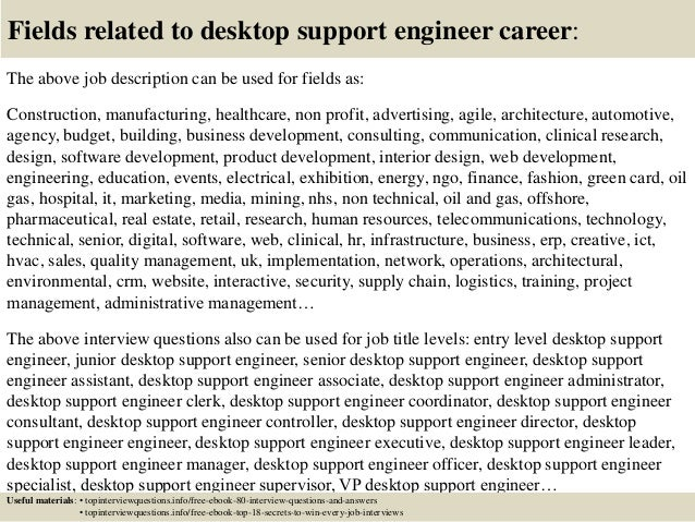 desktop support job description