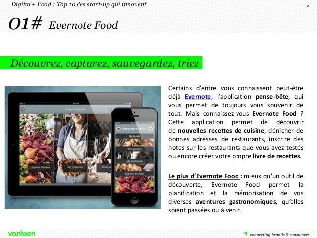 Top 10 des start ups qui innovent digital et food Slide 3