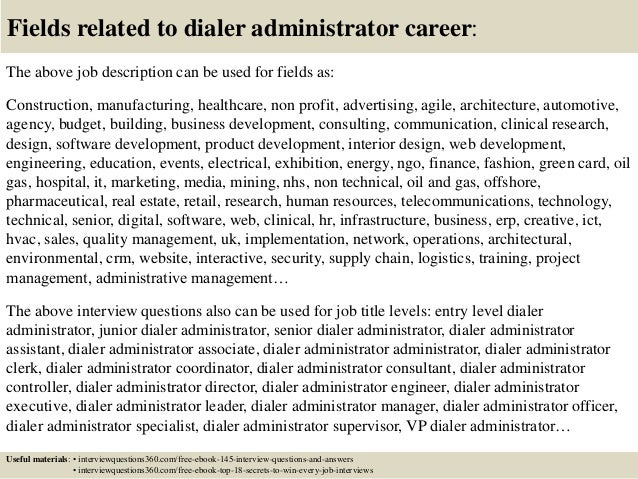 ... 18. Fields Related To Dialer Administrator ...