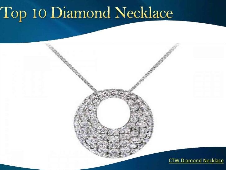 ``    CTW Diamond Necklace