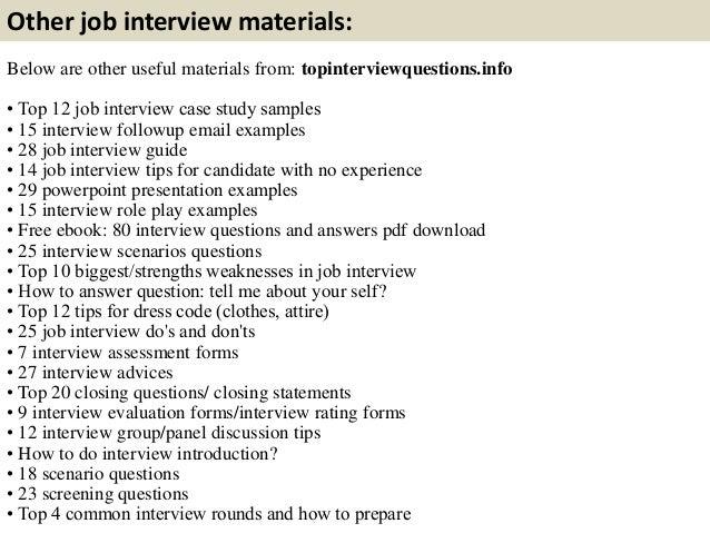job interview essay questions