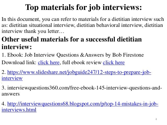 88 Dietitian Interview Questions And Answers
