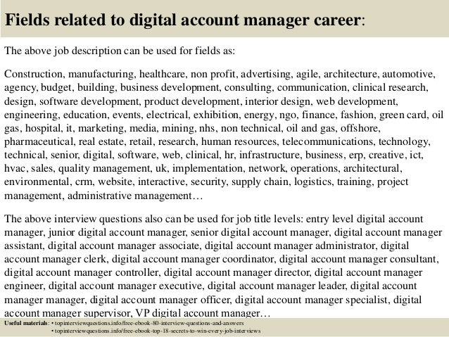 Top 10 digital account manager interview questions and answers