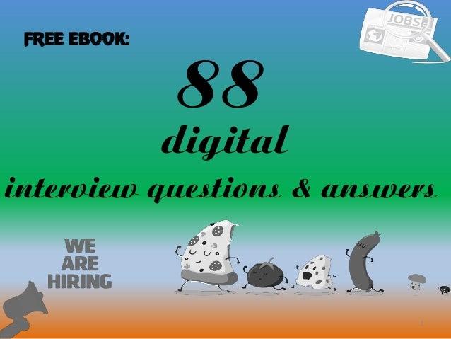 88 1 Digital Interview Questions U0026 Answers FREE EBOOK: ...