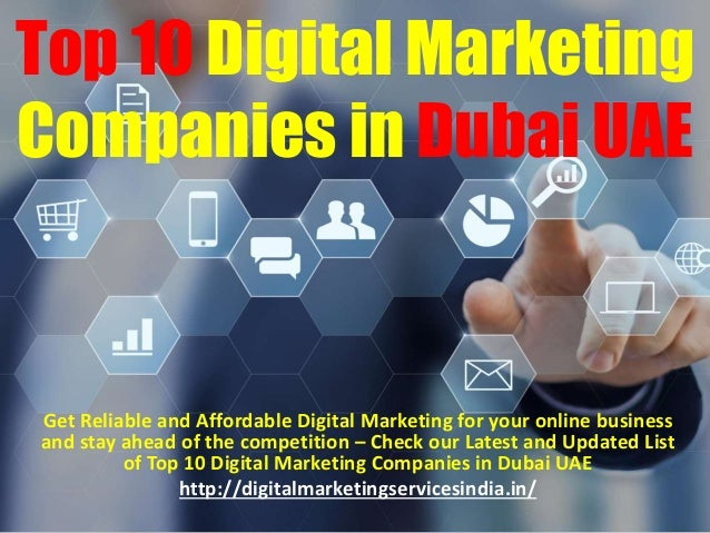 Top 10 Digital Marketing Companies in Dubai UAE