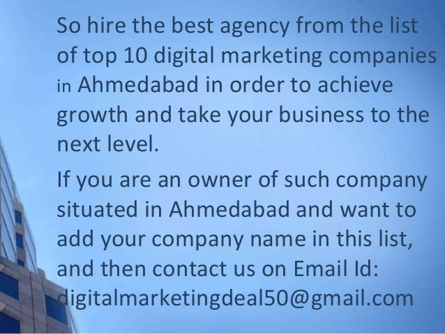 Top 10 Digital Marketing Companies in Ahmedabad