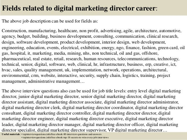 Top 10 Digital Marketing Director Interview Questions And Answers