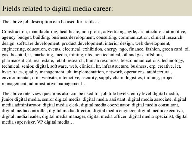 Top 10 Digital Media Interview Questions And Answers