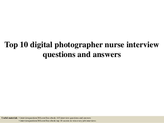 situational interview questions and answers for nurses