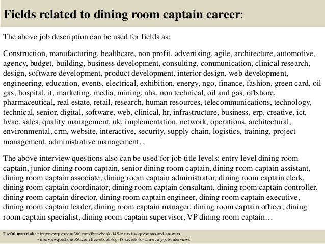 Kitchen Manager Job Description Template Restaurant Cook  : top 10 dining room captain interview questions and answers 18 638 from www.elivingroomfurniture.com size 638 x 479 jpeg 139kB