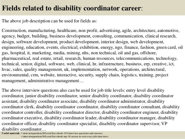 top  disability coordinator interview questions  answers