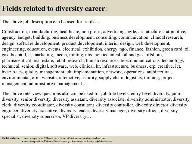 Diversity coordinator cover letter