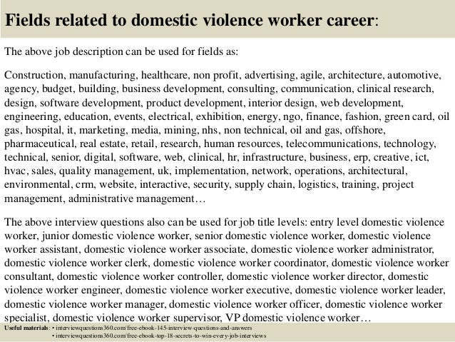 top 10 domestic violence worker interview questions and