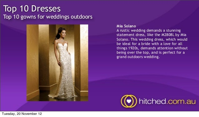 Top 10 Dresses For An Outdoors Wedding