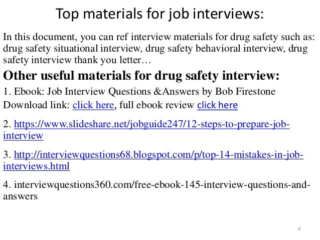 Top 36 drug safety interview questions with answers pdf