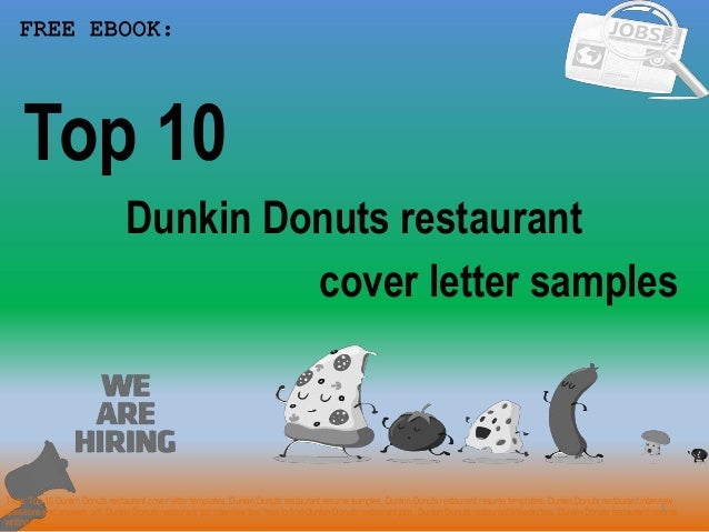 Top 10 Dunkin Donuts Restaurant Cover Letter Samples
