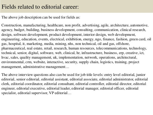 Top 10 editorial interview questions and answers – Content Editor Job Description