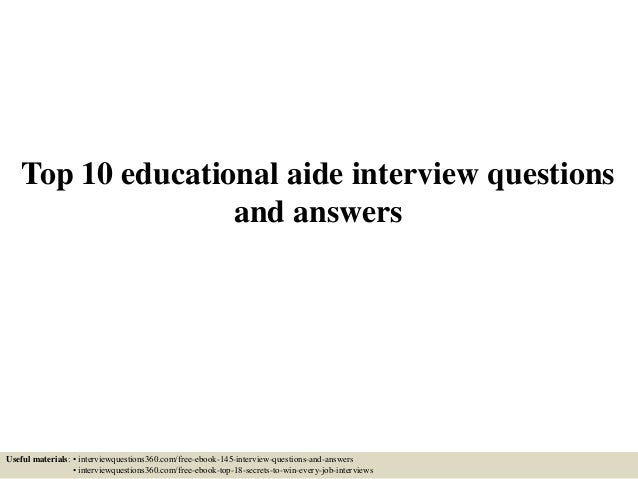 Instructional Aide Interview Questions Radiotodorock