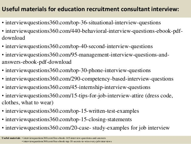 Elegant ... 13. Useful Materials For Education Recruitment Consultant  Interview: .