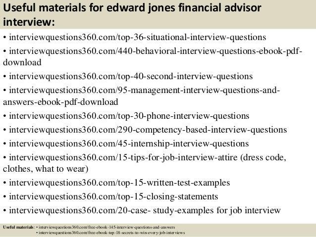 top 10 edward jones financial advisor interview questions