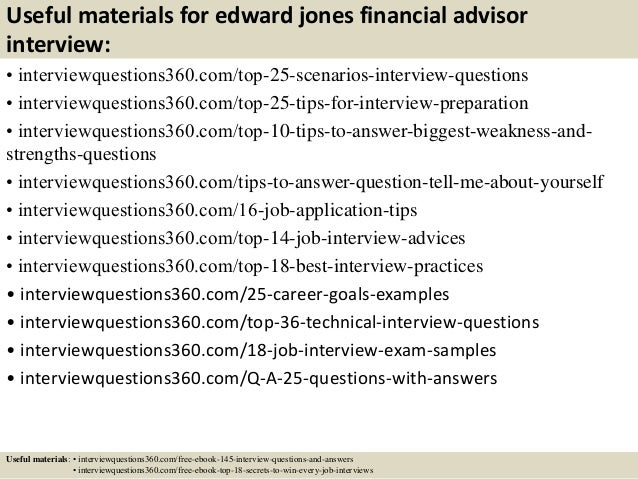 14 useful materials for edward jones financial advisor interview - Financial Advisor Interview Questions And Answers