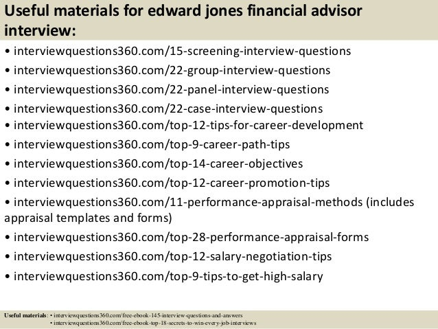 16 useful materials for edward jones financial advisor interview - Financial Advisor Interview Questions And Answers