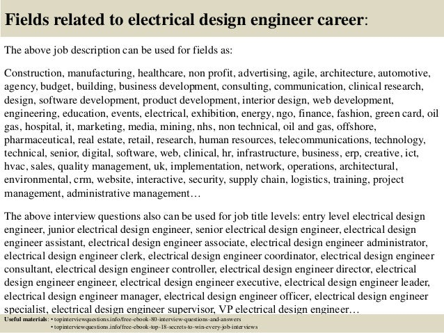 ... 17. Fields Related To Electrical Design Engineer Career: The Above Job  Description ...