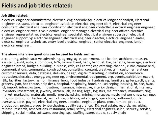 Top 36 Electrical Engineer Interview Questions And Answers
