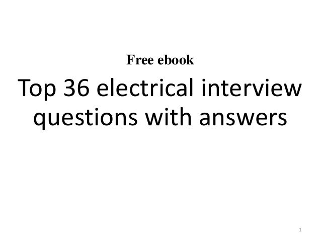 Top 10 Electrical Interview Questions With Answers