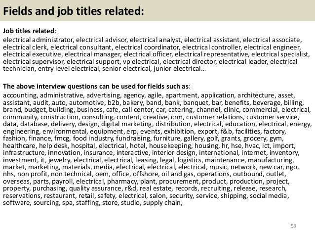 Top 36 electrical interview questions with answers pdf