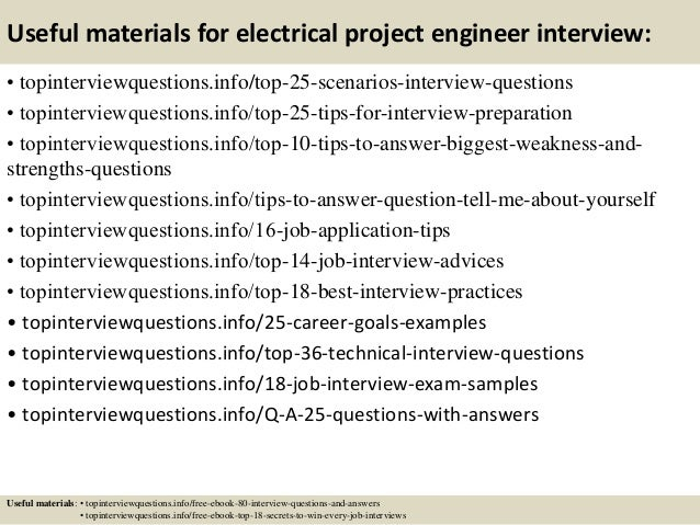 ... 13. Useful Materials For Electrical Project Engineer ...