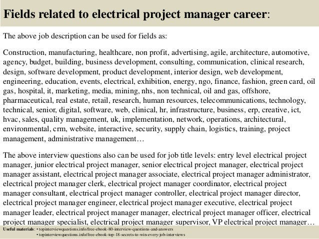 Top 10 electrical project manager interview questions and answers