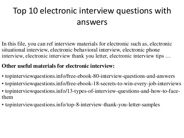 Electronics pdf basic answers interview questions
