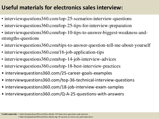 questions for sales interview